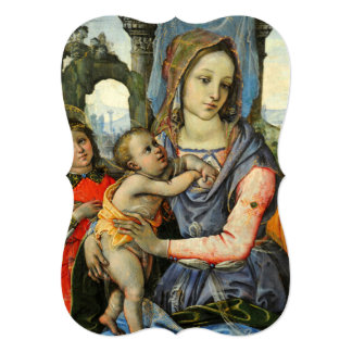 Madonna and Child with Saint Joseph and an Angel Card