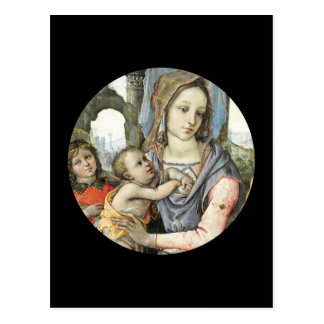 Madonna and Child with Saint Joseph and an Angel Postcard