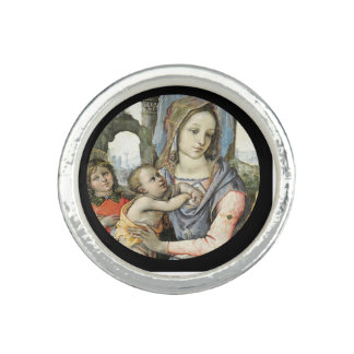 Madonna and Child with Saint Joseph and an Angel Ring