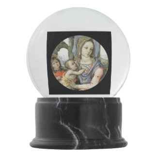 Madonna and Child with Saint Joseph and an Angel Snow Globe