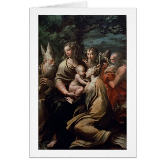 Madonna and Child with Saints, c.1529 (oil on pane Card