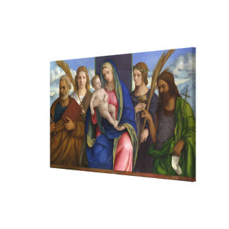 Madonna and Child with Saints Canvas Print