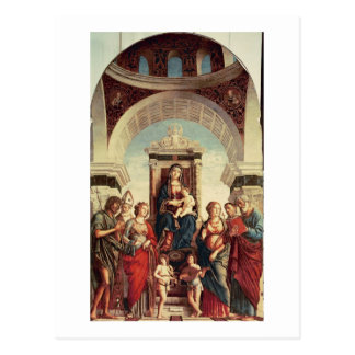 Madonna and Child with Saints Postcard