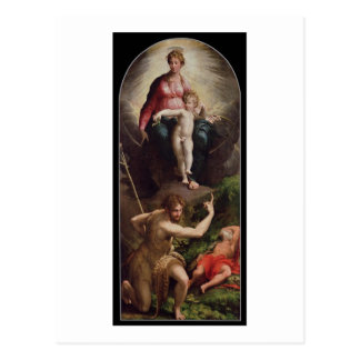Madonna and Child with St. John and St. Jerome, 15 Postcard