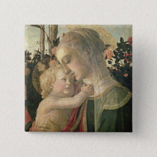 Madonna and Child with St. John the Baptist, detai 2 Inch Square Button