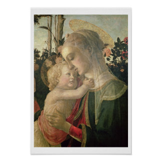 Madonna and Child with St. John the Baptist, detai Poster