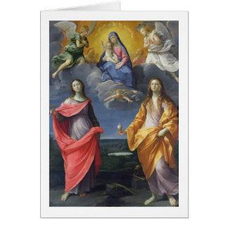 Madonna and Child with St. Lucy and Mary Magdalene Card