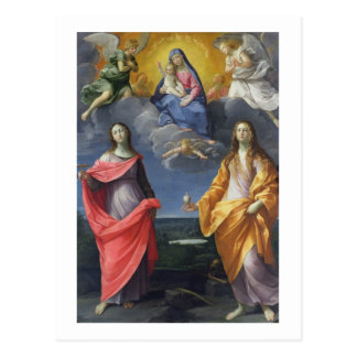 Madonna and Child with St. Lucy and Mary Magdalene Postcard