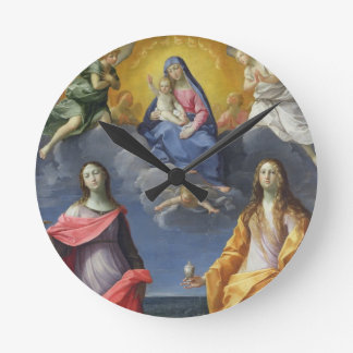 Madonna and Child with St. Lucy and Mary Magdalene Wallclock
