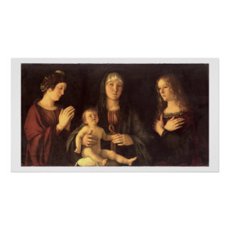 Madonna and Child with St. Mary Magdalene and St. Poster