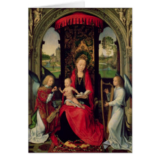 Madonna and Child with two Angels Card
