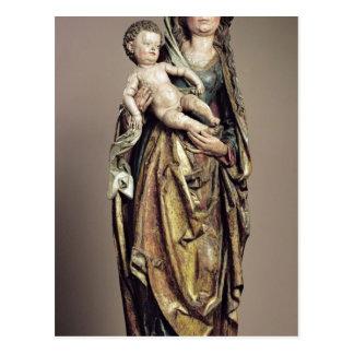 Madonna and Child, Wooden Sculpture Postcard