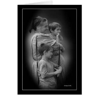 Madonna and Children Card