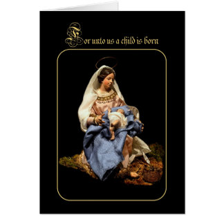 Madonna and Christ Child Card