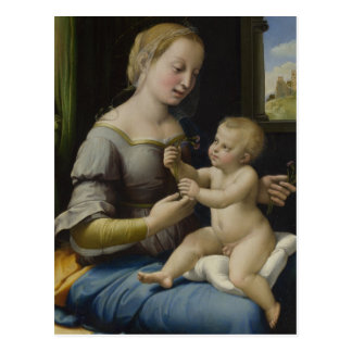 Madonna and Christ Child Postcard