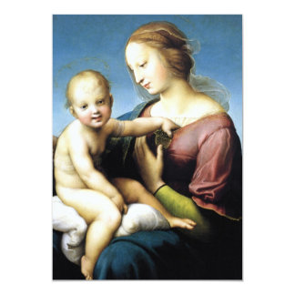"""Madonna and Christ Child Sitting Outside 5"""" X 7"""" Invitation Card"""