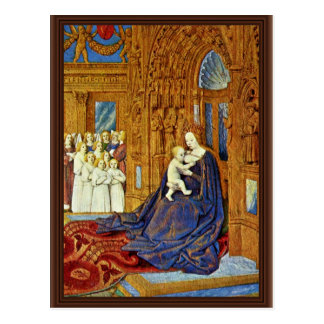 Madonna At The Portal Of A Cathedral By Fouquet Je Postcard