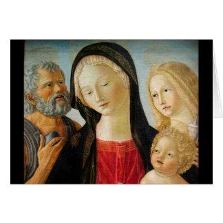 Madonna avec l'enfant, St Jerome et la Mary Carte De Vœux