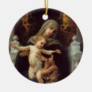 Madonna, Bouguereau Ceramic Ornament