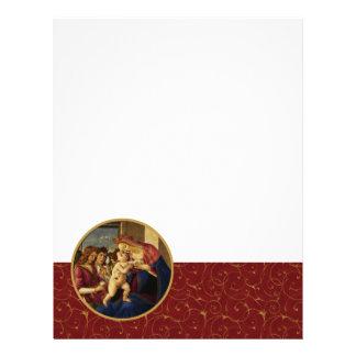 Madonna by Botticelli. Fine Art Stationery Customized Letterhead