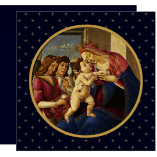 Madonna by Botticelli. Religious Christmas Cards