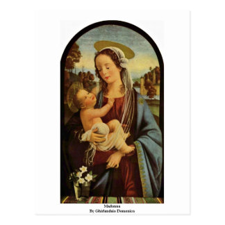 Madonna By Ghirlandaio Domenico Postcard
