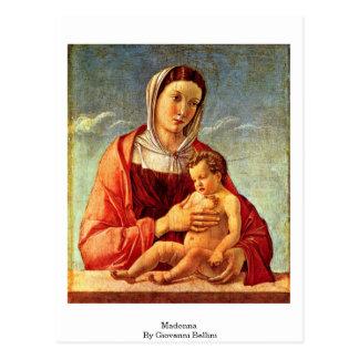 Madonna By Giovanni Bellini Postcard