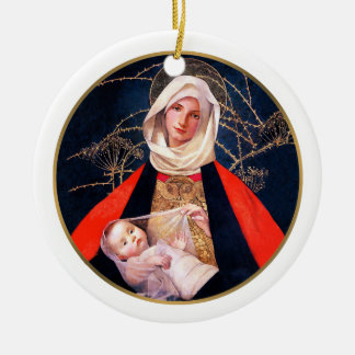 Madonna by Marianne Stoke. Christmas Gift Ornament
