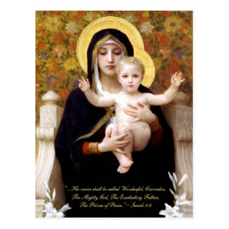 Madonna & Child by Bouguereau Religious Christmas Postcard