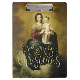 Madonna & Child, Christmas Fine Art Clipboard