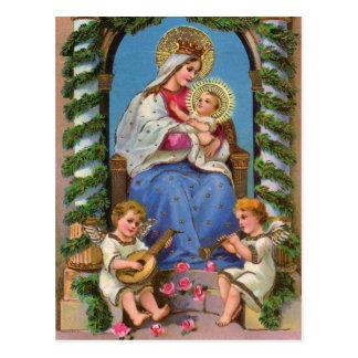 Madonna & Child Christmas Holiday Postcard