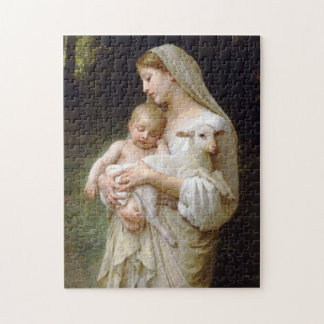 Madonna & Child with lamb Christmas Puzzle
