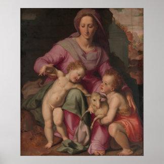 Madonna & Child with Saint John the Baptist Poster