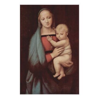 Madonna Del Granduca by Raphael Poster