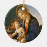 Madonna del Libro Botticelli Christmas Ornament
