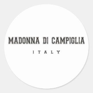 Madonna di Campiglia Italy Classic Round Sticker