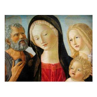 Madonna et enfant, St Jerome et Mary Magdalene Carte Postale