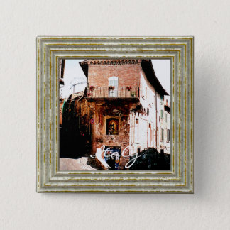 Madonna In A Grotto In Italy 2 Inch Square Button