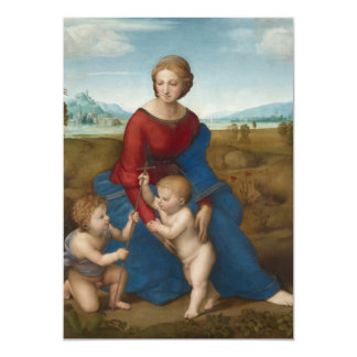Madonna in Meadow Raphael Card