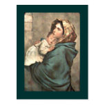 Madonna in Scarf Holds Baby Jesus Post Card