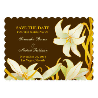 Madonna Lilies: Save the Date Wedding Invitations