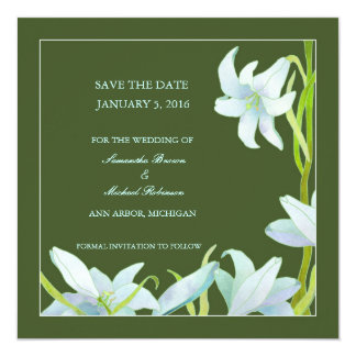 Madonna Lily Save the Date Wedding Invitations