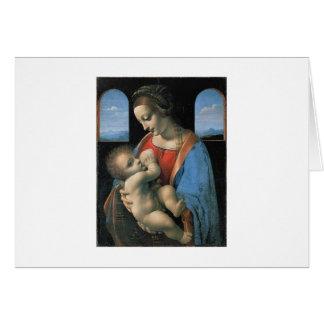 Madonna Litta by Leonardo Da Vinci c. 1490-1491 Card