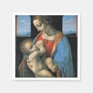 Madonna Litta by Leonardo da Vinci Disposable Napkins