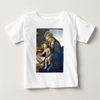 Madonna Madona Child Book religion painting Baby T-Shirt