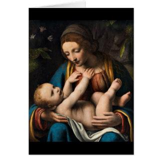 Madonna med  Kristusbarnet Card