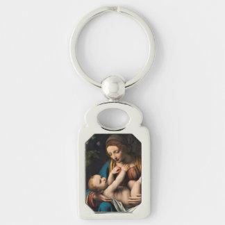 Madonna med  Kristusbarnet Keychain