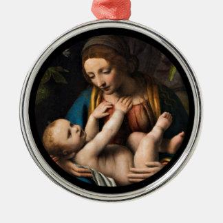 Madonna med Kristusbarnet Metal Ornament