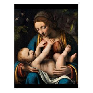Madonna med  Kristusbarnet Postcard