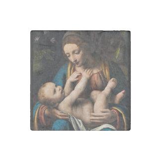 Madonna med  Kristusbarnet Stone Magnets